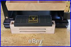 150 Cigar Countertop Display Humidor Storage Show Cabinet Humidifier Hygrometer