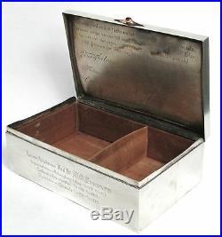 1915 Sweden Silver Medical Doctor Esteem Dedication Humidor