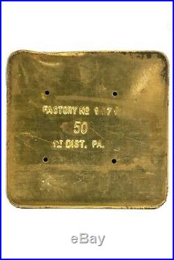 1926 Train Master rectangular 50 cigar humidor tin in very good condition