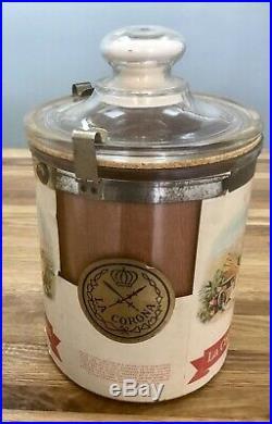 1930, s Antique Corona Cigar Humidor Jar From Cuba