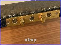 A Wonderful Antique Leather Clad Cigar Humidor With Brahma Lock