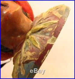 ANTIQUE JOHAAN MARESCH TOBACCO JAR HUMIDOR GYPSY MAN IN BARREL c. 1890