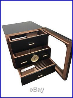 Adorini Chianti Medium Deluxe Humidor 70 cigars in black laquered finish