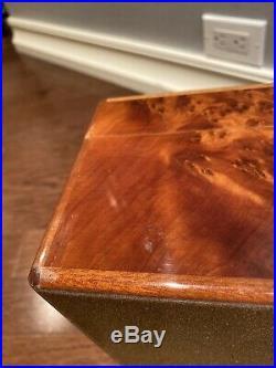 Alfred Dunhill Burl Wood Cigar Humidor Beautiful, 13.75 X 7.25 X 9