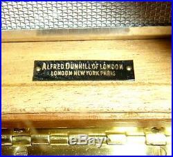 Alfred Dunhill Of London Antique Beautiful Mahogany Humidor 8 1/2x5 1/4x3 3/4