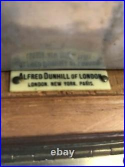 Alfred Dunhill Of London Antique Beautiful Mahogany Humidor 8 x 5