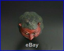 Antik Humidor Bernard Bloch Tabak Behälter Teufel 1880 Bb Tobacco Jar Devil Rare