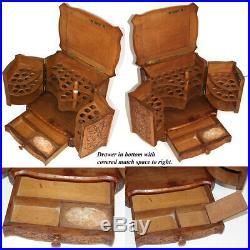 Antik Schwarz Wald Schreibtisch Zigarre Schrank, Verpackung, Vorlage Servier