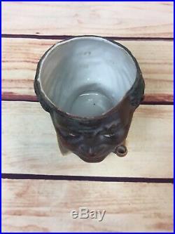 Antique 1920's Black Man Tobacco Jar Very Fine German Bisque