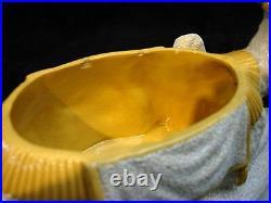 Antique Austrian Tobacco Jar Yellow Ware by Tschinkel (As Is)