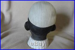 Antique Black Americana Black Face String Holder