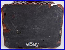 Antique Black Forest Carved Wood Cigar Chest withDrawer Holds 42 Cigars 19th c