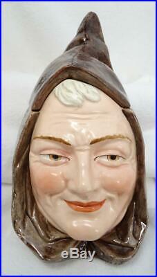 Antique C. 1900 Austrian Majolica Monk Humidor Tobacco Jar Bernard Bloch