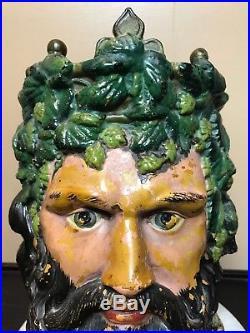 Antique Ceramic Figural Tobacco Jar. European 19Th Century. Amazing Detail