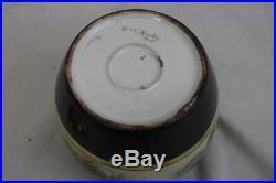 Antique Ceramic Pine Cone Humidor Cigar Tobacco Jar'Ruth Noobs' 1915