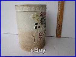 Antique Ceramic Tobacco Advertising Jar