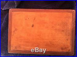 Antique Cherub Mahogany Lined Wood Cigar Humidor Box