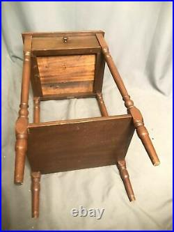 Antique Cigar Ashtray Chairside Smoke Stand Humidor Drawer Vtg Tobacco End Table