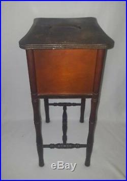 Antique Cushman Smoking Stand Copper Lined Humidor Cushman Bennington, Vermont
