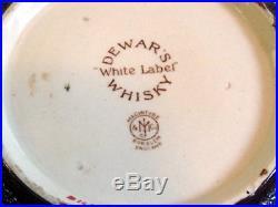 Antique Dewars Whiskey Macintyre Burslem England Tobacco Jar Advertising Humidor