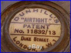 Antique Dunhill Mahogany Airtight Cigar Humidor C1900