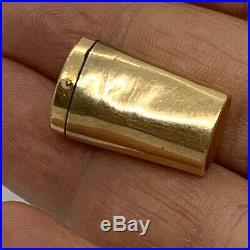Antique F & B Gold Filled Folding Cigar Holder Pipe Tube. Amber Lot186