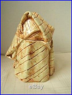 Antique Figural Tobacco Jar Humidor Black Moorish Man Turban