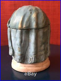 Antique Figural Tobacco Jar Humidor Black Woman
