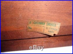 Antique Humidor Table Cushman # 546 Very Early Smoking Stand Aafa
