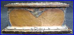 Antique J. G. Grogan & Co. Silver and copper mounted Art Nouveau humidor