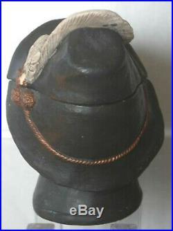 Antique Johann Maresch tobacco jar shaped like a gentleman's head and face