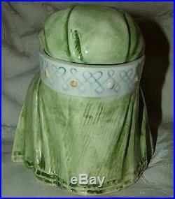 Antique Majolica Figural HUMIDOR Maharani Princess Sultaness Horowicz pg 47 #198
