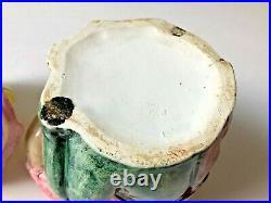 Antique Majolica Tobacco Humidor Jar Frog Playing Guitar 8