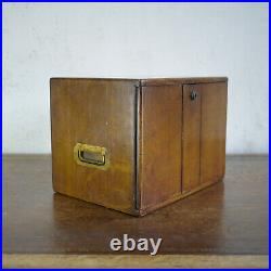 Antique Oak Cigar Box Humidor Tobacco Smokers Table Cabinet Apothecary Storage