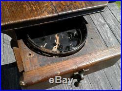 Antique Oak Smoker Stand and Book Shelf 1920 Era