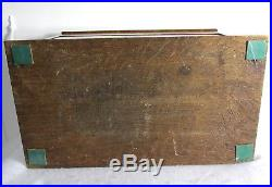 Antique Oak Wood Revolving Door Pipe Holder Smoking Cabinet Humidor
