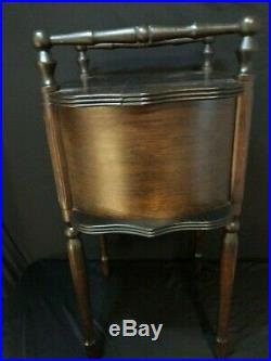 Antique Oriental Vintage Smoker Tobacco Smoking Stand Humidor Table