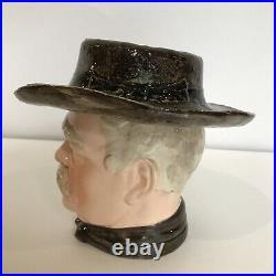 Antique Otto Von Bismarck Majolica Tobacco Jar Humidor