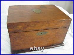 Antique Pipe / Humidor Cabinet Tobacciana Vintage Beautiful Oak Antique