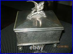 Antique Reed & Barton Cigar Box Humidor