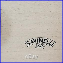 Antique Savinelli 1876 Lacquer Designed Cigar Humidor Box