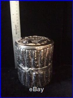Antique Silverplate Cigar Humidor By Tuft Rare