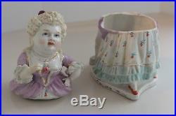 Antique Tobacco Jar Porcelain C&B Matron