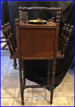 Antique Vintage Cushman Smoker Tobacco Smoking Stand Ashtray Humidor Table