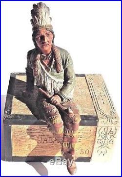 Antique ceramic cigar box humidor, Habana Colorado Johann Maresch