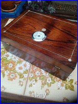 Antique cigar humidor