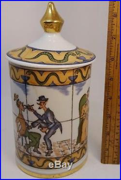 Apothecary Dentist Doctor Nicotine Tobacco Jar Vintage Pharmacist Drug Pottery