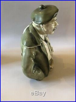 Ardalt Porcelain Humidor Tobacco Jar Scottish Man Scotsman Vintage Hard To Find