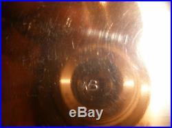 Art Deco Copper tobacco humidor set also match holderCopper Deco pair-signed