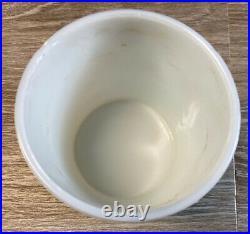Art Nouveau White Milk Glass Tobacco Jar Ornate Humidor Victorian Metal Lid
